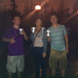 Blurry, but butterbeers last night at #gradbash @tara_gabbard @bailey151