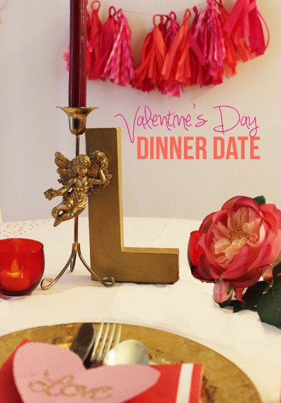 a romantic & colorful valentine's day dinner!