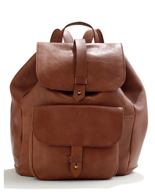 Ahhhh…. Just fell in love with leather rucksack from Madewell. Seems like the perfect bag to stuff everything you need in for a long summer day.