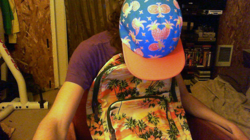 new hat and backpack, im going to turn into a life blogger