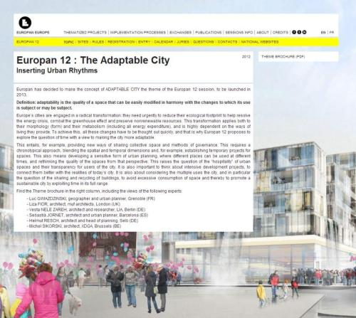 humanscalecities:  Europan 12 : The Adaptable City
