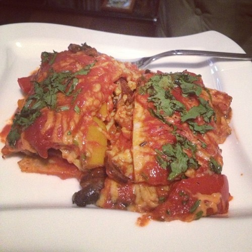 Vegan enchiladas and HBO - how we do #sundaysupper