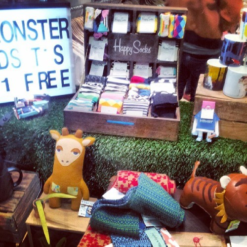 Cool junk at #monsterthreads. #happysocks #shop #shopwindow #shopfront #degraves #degravesst #melbourne