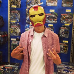 BAM.  Finally got my Iron Man mask.  Old picture though lol