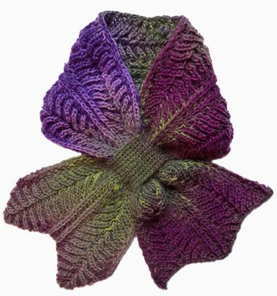 "This is one for the knitters found over at Knitty.com.  Quite a complex pattern, this is Rodekool by Nancy Marchant.  Rodekool means ""Red cabbage"" in Dutch.  This uses Brioche Knitting as a technique.  This is way too tricky for me at the moment, but I like the effect, so one day …"