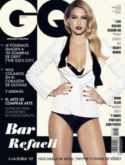 binnielove:   Bar Rafaeli Covers February 2013 GQ Spain Magazine