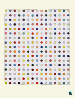not-thismindandnot-thisheart:  a sketch of a Damien Hirst at the SFMOMA   Nice sketch!