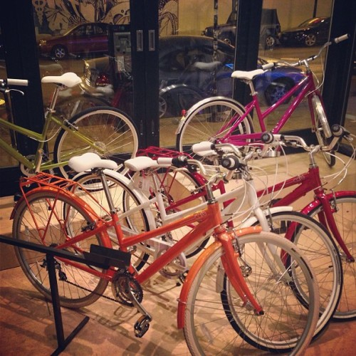 @feltbicycles does not shy away from colors in the #cafe series! All in stock in Wicker Park!