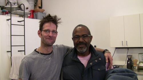 My friend brought Amos Kennedy over to the shop for a visit yesterday afternoon. Awesome dude. Gave him the vest he's wearing…perfect fit. Click on image to see his stuff!