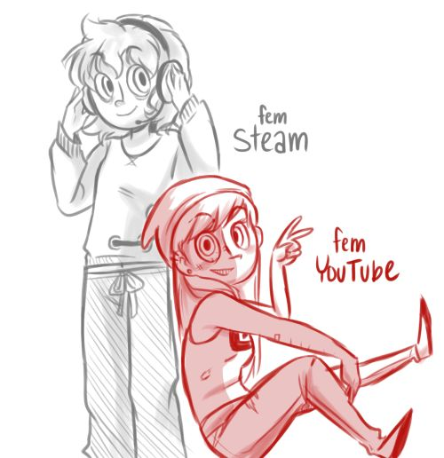 Another Genderswap Saturday: Steam and Youtube