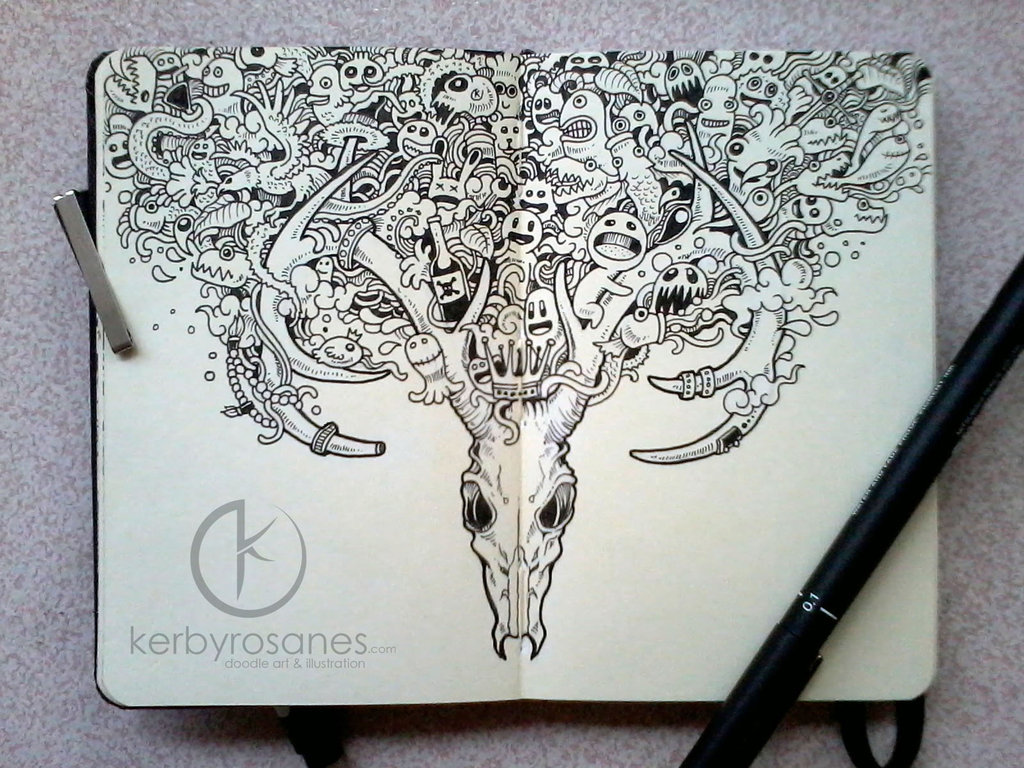 stilldonotloveyou:  MOLESKINE DOODLES: Beautiful Decay by ~kerbyrosanes