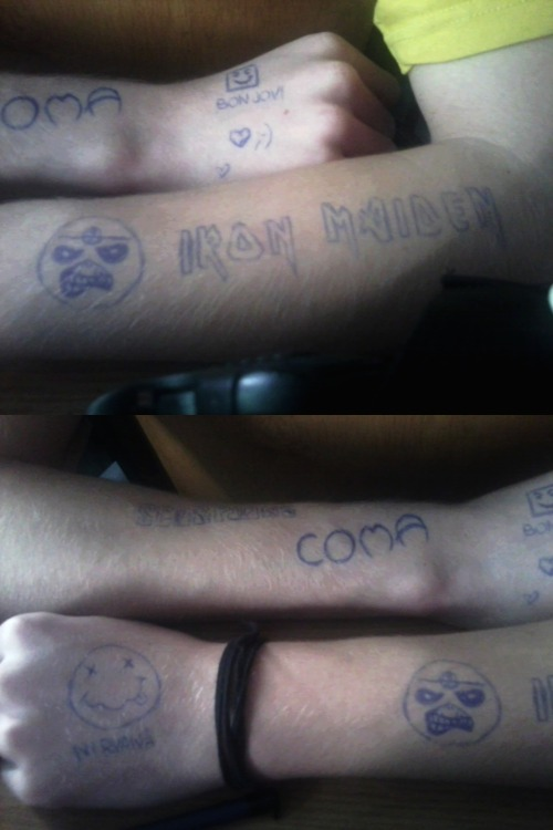 I like draw on Marek's hands :-D
