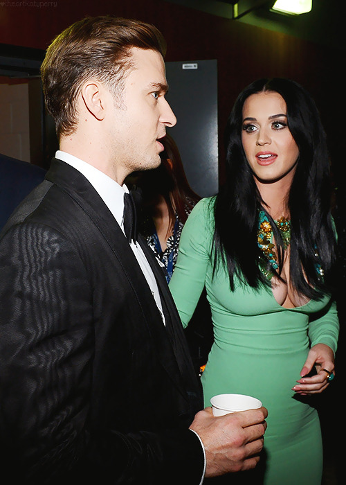 iheartkatyperry:  Katy and Justin Timberlake at The 55th Annual GRAMMY Awards - Feb. 10, 2013