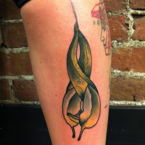 Last tattoo at Gastown! Thanks syd! So stoked on slugs! There doooooing it! #tattoo #tattoos #traditionaltattoo #traditional   #sluglove #radtimes