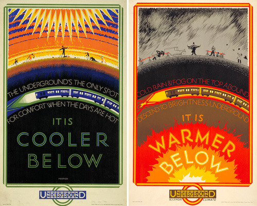 explore-blog:  The story of the London Underground, in lovely vintage posters.  This is some dystopian shit.