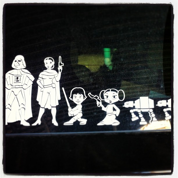 Some things put the #cute in #cliché. #starwars family (at 24 Hour Fitness Super Sport)