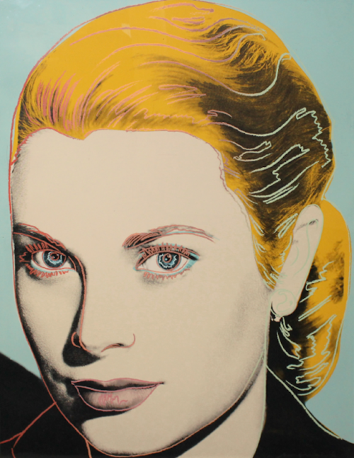 Grace Kelly Andy Warhol's stunning portrait of actress Grace Kelly was a fundraising piece for the Institute of Contemporary Art in Philadelphia, Kelly's hometown. Warhol always had a soft spot for the ICA, since they hosted his first one-man solo show in 1965, which subsequently launched his career as a serious artist.
