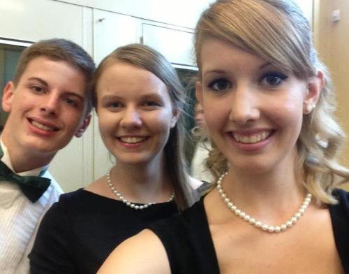 search-my-s0ul:  Ryan, Jessica, & I lookin' a little classy before our final band concert last Friday night. Aren't we cute? c:  HEY DATS ME IN THE MIDDLE