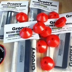 Carbon fiber record cleaning brushes and 45 rpm adapters back in stock! #olympicrecords