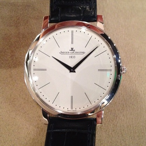 JAEGER-LeCOULTRE's thinnest yet.  A stunning, stylish and timeless timepiece. Want one. TS