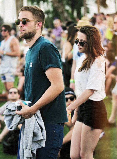 Rob & Kristen at Coachella 2013 (x)