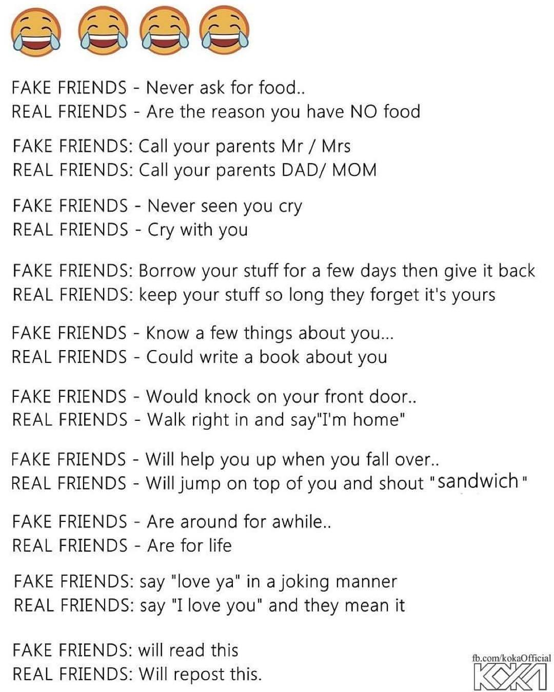 Fake Friends, Real Friends