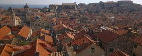 Photo of the Day: 'The Wonderful Red Roofed City of Dubrovnik' by Padraig Healy.  An aerial view of the famous red roofed city of Dubrovnik.  This photo is available to buy from only €25 at http://www.lokofoto.com/photos/3545