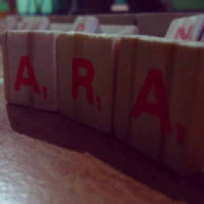 Lovelove ko baby ko. :)) she'll never be replaced. Never :) #Ara#her#name#iloveher#girl#girlfriend#scrabble#letters#potd#tagsforlikes