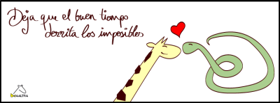 """Let good weather melt the impossibles"" (yep, woking in a giraffe lover company)"
