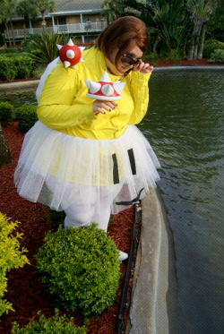 Myself as Lakitu from Mario Kart; Loserslovediscos & shootingstarsphotography