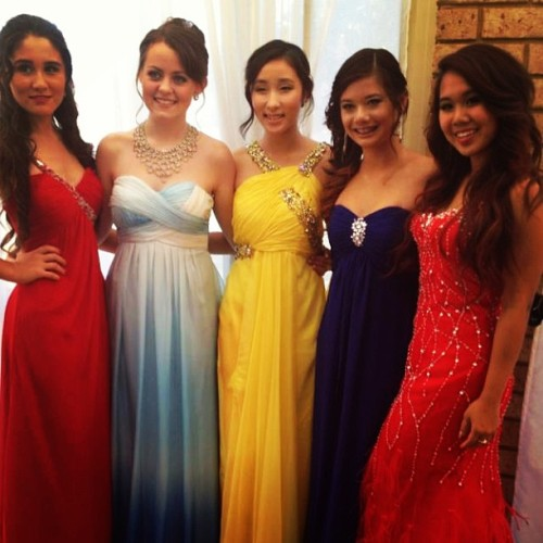 With these amazing girlies before our school ball! #sexy #hot #gorgeous #beautiful #girls #schoolball #colourful #instagood #instamood #memories