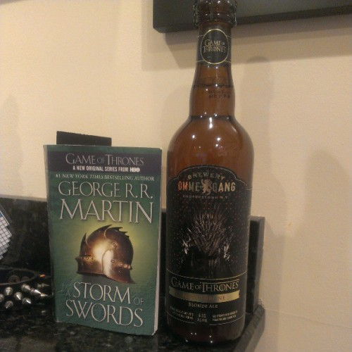 This beer should pair nicely with the book I'm currently reading #IronThrone #Gameofthrones #winteriscoming #beer #craftbeer #ommegang