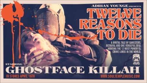 "Awesome Retro Horror Movie Poster For Ghostface Killah's New Album ""Twelve Reasons To Die"""