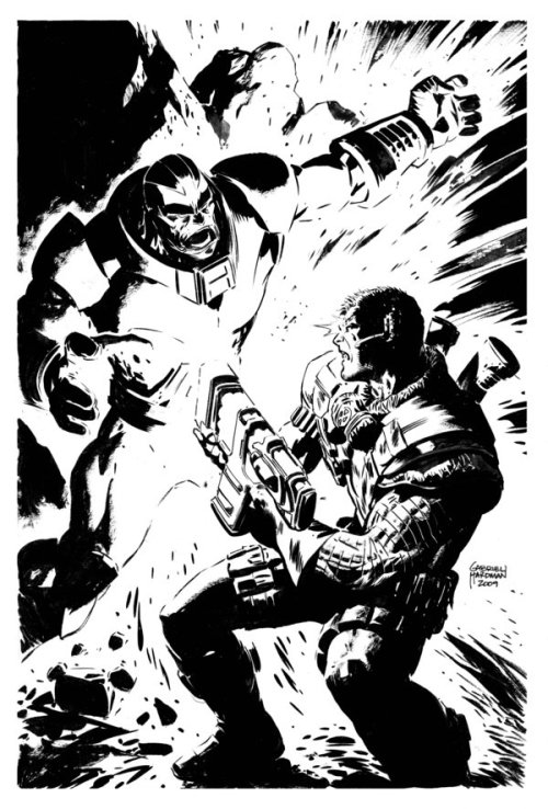 Cable vs Apocalypse by Gabriel Hardman