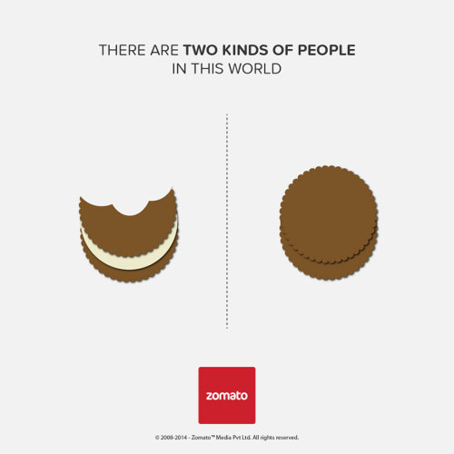tastefullyoffensive:  [zomato]  Two kinds of people