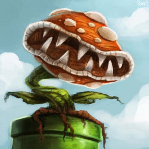 cryptid-creations:  DAY 181. Piranha Plant (25 Minutes) by *Cryptid-Creations Mario or SNES theme this week, I'm not sure…oh —I'm a day away from half a year of these :,D