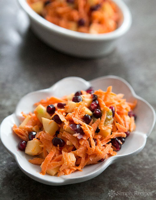 Jeweled Carrot Salad with Apple and Pomegranate #Jeweled#Carrot#Salad#with#Apple#and#Pomegranate