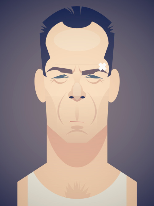 stanleychowillustration:  John McClane  Because Die Hard was on cable last weekend so of course I had to watch the whole thing. Because I am in the middle of a huge Moonlighting marathon since I'm finally digging into the DVDs of the complete series I bought months ago.