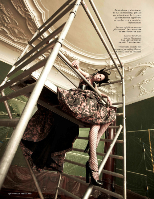 Querelle Jansen in Louis Vuitton photographed by Ishi for Vogue Netherlands, May 2013