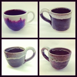 New mugs! #mugs #clay #glaze #highfire #ceramics #pottery  (at Mira Costa Art Building)