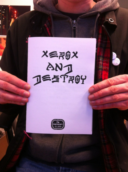 Not many xerox and destroys left in the create publishing shop. If you have not got your hands on one yet then go HERE