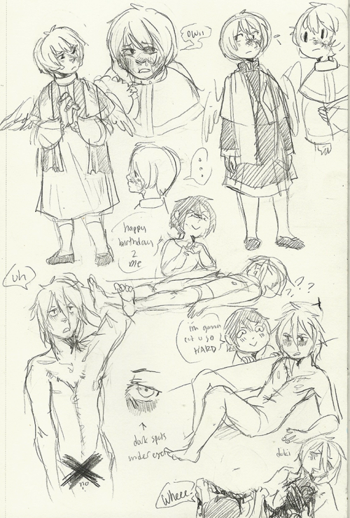 liet spam and then my zombie oc with kiwi's kouta uvu
