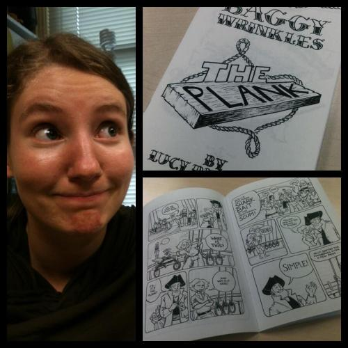 Finished the prototype for Baggywrinkles #4 at 6:14pm this evening. Went out to see Iron Man 3 to celebrate. Frankly, the way people imagine it must feel to be Iron Man is the way I feel when I make comics. I love this fact. Books are gonna be ready tomorrow afternoon. Flying to Toronto Thursday morning. Partying it up all weekend at TCAF. Dying happy.
