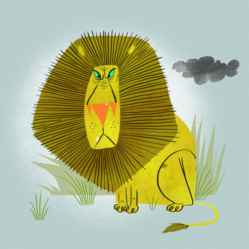 Lion is stressed. on Flickr.Lion is stressed.