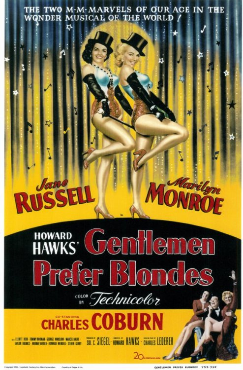 fuckyeahmovieposters:  Gentlemen Prefer Blondes  I just want that outfit ha