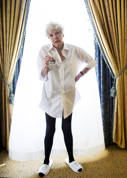imwithkanye:  This photo of Elaine Stritch is everything.   WIN!