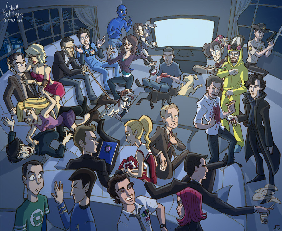 All of the TV fandoms. All of them. By Anna Rettberg