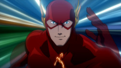 "bossbattle:  First still from the upcoming DC Animated movie - Justice League: The Flashpoint Paradox.   While I was not a fan at all of the Flashpoint mini-series, or it's outcome - the NEW 52, this art direction looks promising. And under the new direction of James Tucker, who has claimed he doesn't want to produce straight adaptations of comic storylines, this could mean the movie will turn out better than series it is based upon.  We shall see.   And even though this is billed as a ""Justice League (colon)""  movie, it's most certainly Flash-focused, and that's also a nice departure from the over-saturated Superman/Batman fare we've been getting. more info and film synopsis at Newsarama"