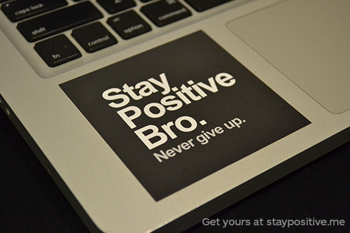 staypozitive:  Get your stickers here (on the left sidebar of our blog), we will write you a cute little note, and ship it to you tomorrow. :]