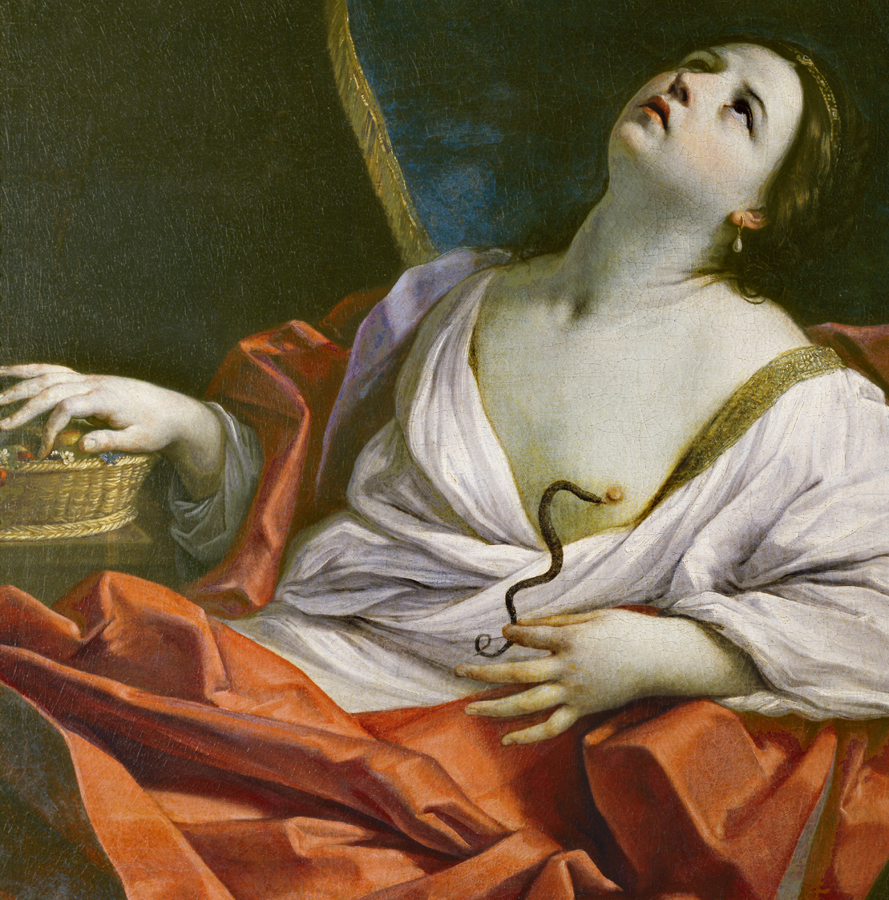 jaded-mandarin:  Guido Reni. Cleopatra, 17th Century.